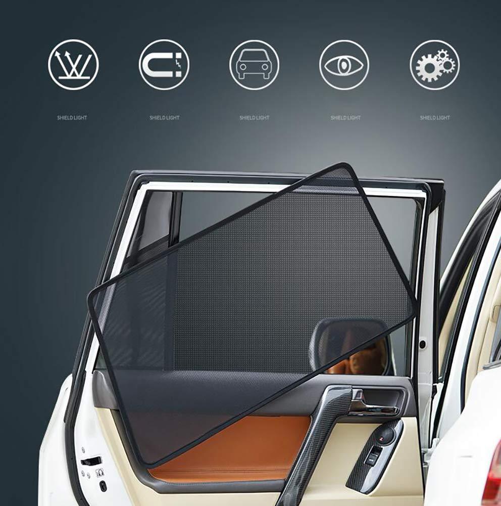 R&P Car Window Shades Full Set of 5 Pieces - Block UV Rays -Made of Flame Retardant Fiber - Premium Quality Car Sun Shades-General Purpose