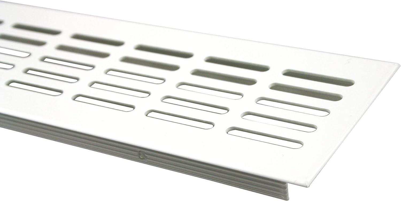 Lienbacher Grille da/ération en aluminium Blanc thermolaqu/é 80 x 600 mm