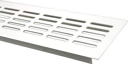 Lienbacher Grille da/ération en aluminium Blanc thermolaqu/é 80 x 1 000 mm