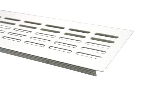 Aluminium L/üftungsgitter Stegblech L/üftung 100mm x 1000mm in verschiedenen Farben Weiss pulverbeschichtet