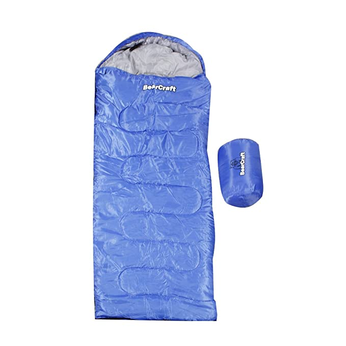 BearCraft Saco de Dormir | Perfecto para Viajar, para la Primavera, el Verano y el Otoño | Tipo Momia: Amazon.es: Deportes y aire libre