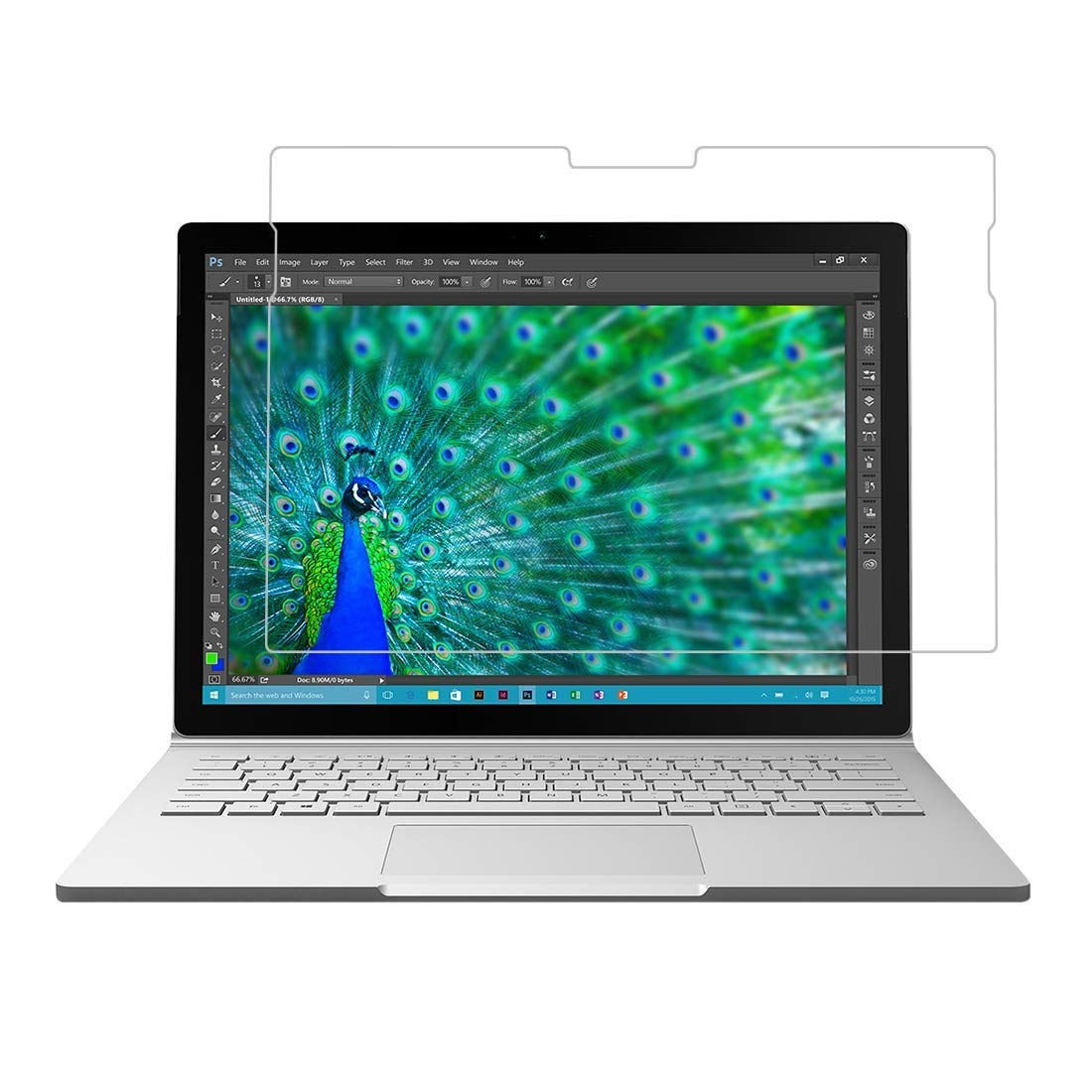 [2 Packs] Microsoft Surface Book 2 (13.5'') Screen Protector, Surface Book 2 (13.5'') Tempered Glass Screen Protector, Scratch-Resistant Clear Screen Protector for 13.5'' Microsoft Surface Book 2