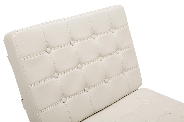 MCombo Lounge Sill/ón Relax Butaca Modern Lounge Silla PU Piel Acero Inoxidable Sill/ón Taburete