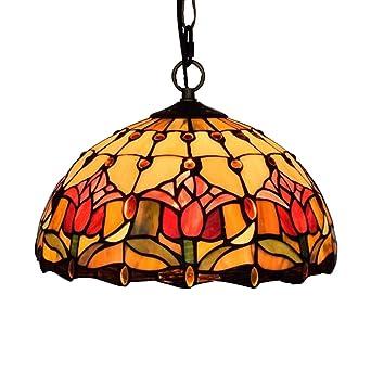 Lámpara colgante de estilo Tiffany, luz de techo colgante ...