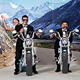 Double Motorcycle Prom Photo Prop Kit, 7 Feet 8 Inches High, Large Prom Background Decoration