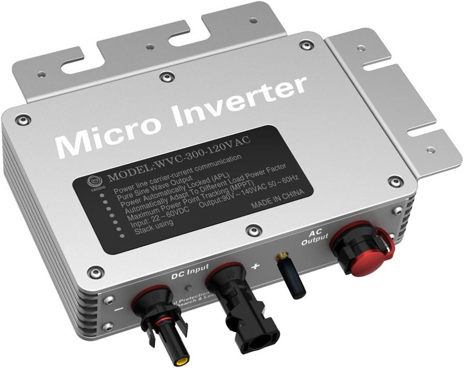 300 W DC22-50V a 120V/230Vac MPPT IP65 Impermeable Solar Grid ...