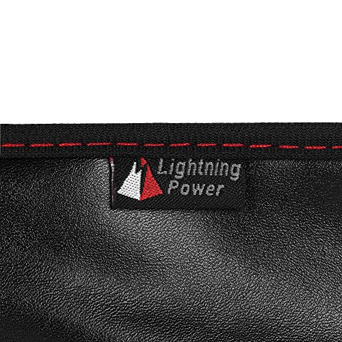 Lightning Power - PU Leather Protective Screen Dust Cover Sleeve with rear pocket for Apple IMAC 27 slim A1419 (27'' with pocket, Black PU Leather) by Lightning Power (Image #6)