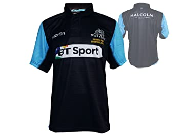 Macron Glasgow Warriors Home Rugby Jersey Negro Rugby Union League Champions Camiseta Escocia: Amazon.es: Deportes y aire libre