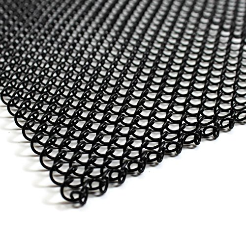 Midwest Hearth Fireplace Mesh Screen Curtain 22'' High. Two 24'' Wide Panels. Made in USA (Black) by Midwest Hearth