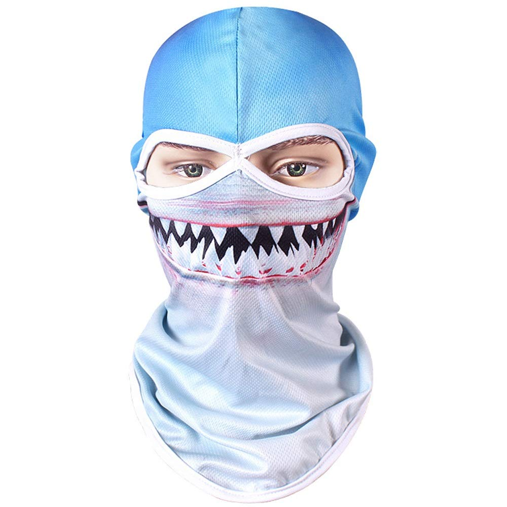 WSYHXMMask Sun Protection Visor Outdoor Riding Men and Women Ice Silk Full Face Fishing Anti-UV Windproof Sunscreen Sunscreen Mask Gini Outdoor Balaclava mask (Pattern : Dog)