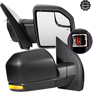 A NEW LEFT DRIVER SIDE MIRROR-GLASS w// BACKING PLATE~ POWER//HEATED//LED~PLUG/&PLAY