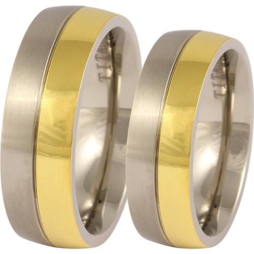 Joyas del Codex Juego de anillos de boda para él y ella, pareja anillos con grabado de láser) titanio: Amazon.es: Joyería