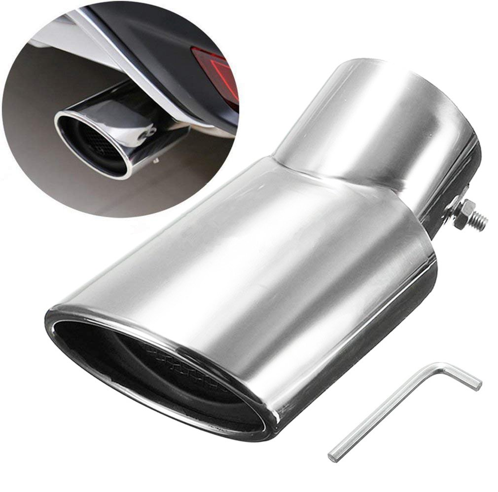 E-cowlboy Chrome Stainless Steel Exhaust Muffler Tip for Lexus RX270 RX350 2010 2011 2012 2013 2014 2015
