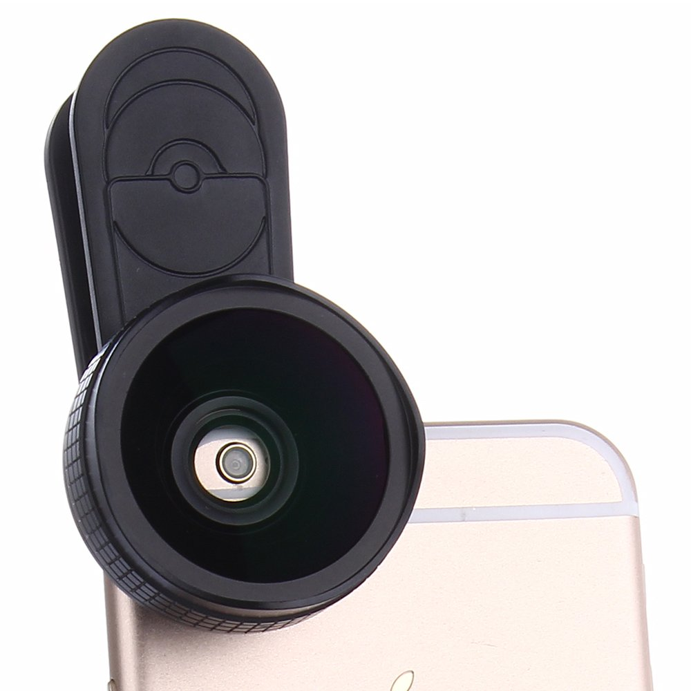 Professional Camera Lens Kit,WMTGUBU 2 in 1 Macro Lens,Wide Angle Lens Kit,Universal Clip On Cell Phone Lens for iPhone Android Samsung Most Smartphones(Black)