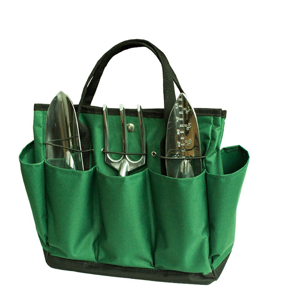 Graden Tool Bag Shoulder Strap Has Pockets Tool Storage Organiser, Can Fit Long Screwdrivers Klein Tools Waterproof Oxford Fabric Multi Pocket Bag for Tools Toolkits (34.317.230.5 CM, Army Green) by KASOS (Image #4)