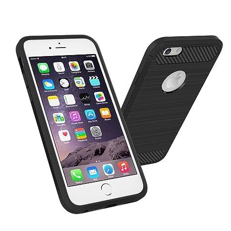 4b409189990 Simpeak Funda para iPhone 6s / 6, Negro Silicona Funda iPhone 6 Carcasa  Apple iPhone 6 Case(4,7 Pulgadas): Amazon.com.mx: Electrónicos