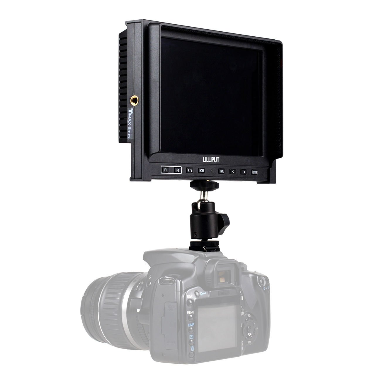 Zhigao High Resolution Lilliput 339 7 IPS Camera Top Monitor HDMI Input AV in Out Put by Zhigao (Image #5)