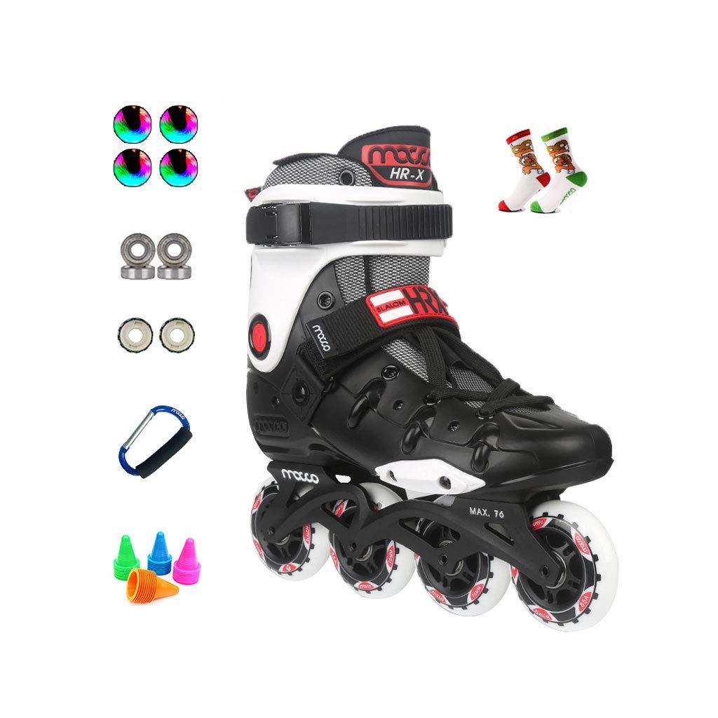 ailj インラインスケート、大人の一列スケートローラースケート専門の男性と女性のスケートフルセット(3色) (色 : 白, サイズ さいず : EU 43/US 10/UK 9/JP 26.5cm) B07JM5DSH6 EU 38/US 6/UK 5/JP 24cm|白 白 EU 38/US 6/UK 5/JP 24cm
