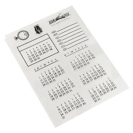 Amazon Jili Online Mixed Calendar Transparent Rubber Stamp Seal