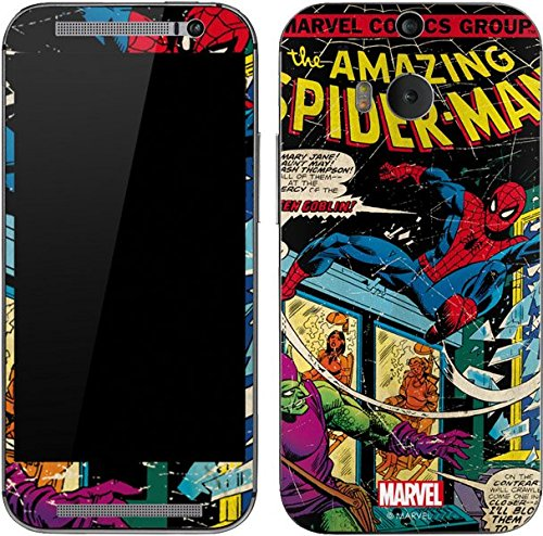 Marvel Comics One (M8) Skin - Marvel Comics Spiderman Vinyl Decal Skin For Your One (M8)