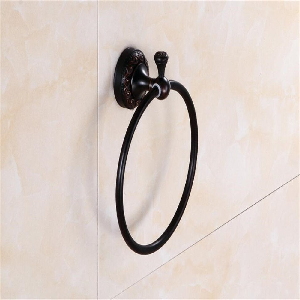 Yomiokla Bathroom Accessories - Kitchen, Toilet, Balcony and Bathroom Metal Towel Ring Attached is a Pure Copper Home Everyday wash