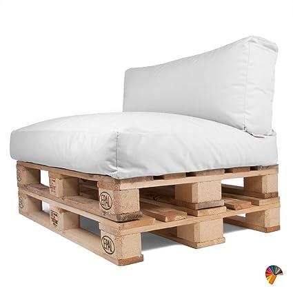 ARKETICOM Set Coussins pour Palettes Canapé de Jardin Dehoussable  Impermeable Pallet Exterieur Matelas Banquette Banc REVETEMENT Tissu  Acrylique ...