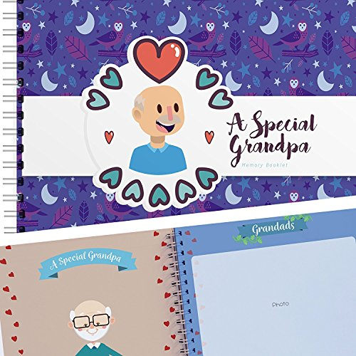 A Special Grandpa Memory Booklet - Hardcover Scrapbook Journal Filled with Lovely Quotes and Places for Pictures of You and Your Grandfather - The Unique & Funny Book Gift for Your Favorite Granddaddy ()