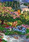 MCG Textiles Disney Dreams Collection By Thomas Kinkade Bambi Vignette 5x7  18 count