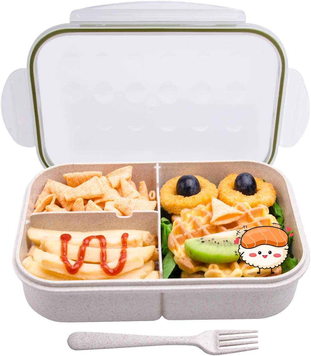Bento box for Kids,MissBig Ideal Bento Lunch Box,Leak Proof and Food Seperated,Mom's Choice Kids Lunch Boxes,No BPAs and No Chemical Dyes,Microwave and Dishwasher Safe.
