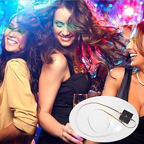 PINGGE US - LED Eyelashes Waterproof LED Light Unisex Flashes Luminous Shining Charming Eyelid Tape Eyeliner Perfect for Party Bar Nightclub Rave Halloween Christmas and Birthday (Green)]()