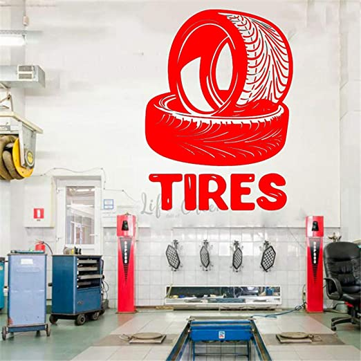 xingbuxin Auto Mechanic Logo Cartel de la Pared Neumáticos ...