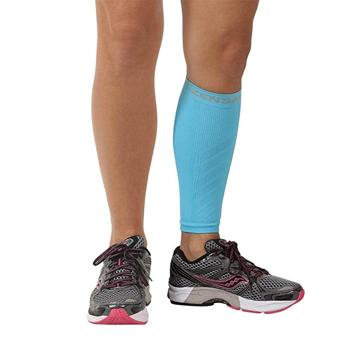 size 40 f702d 83b12 Zensah Calf / Shin Splint Compression Sleeve - Treat Shin Splints and Calf  Strains - Compression Sleeve for Running, Basketball, Tennis, Hiking and ...
