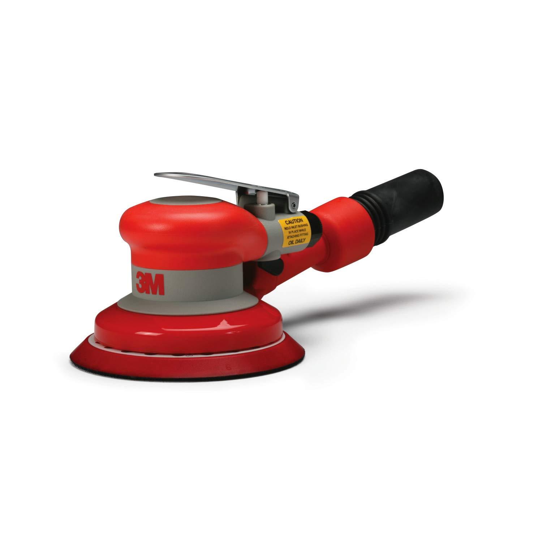 """3M Random Orbital Sander – Self Generated Vacuum Sander – 5"""" x 3/16"""" Diam. Orbit – Pneumatic Palm Sander – Hook and Loop Pad – For Wood, Composites, Metal – Original Series: Power Random Orbit Sanders: Industrial & Scientific"""