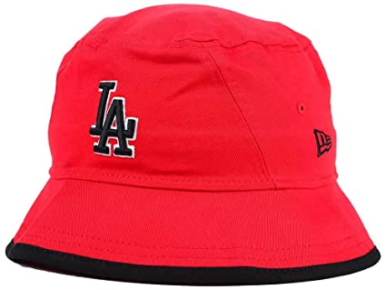 Amazon.com   New Era Los Angeles Dodgers Adult Bucket Hat Red ... 02479d99c7d