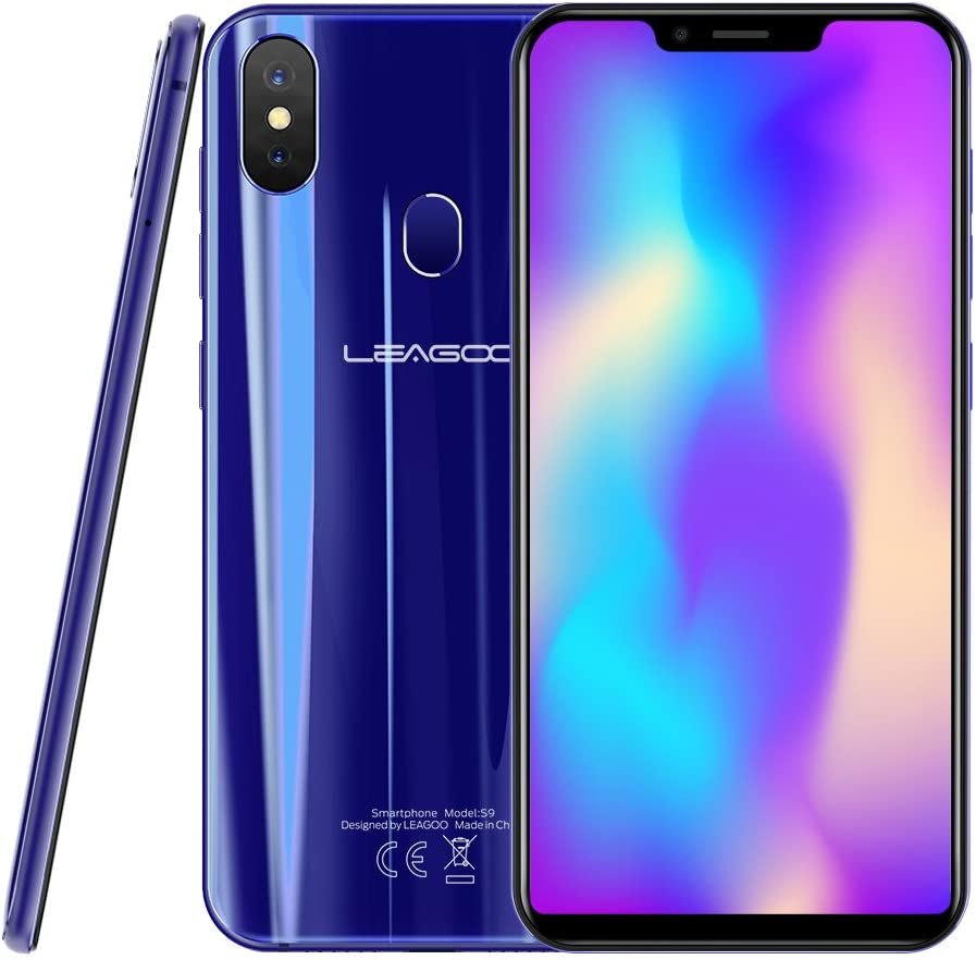 LEAGOO S9 Mobile Phone 5.85 Inch 4GB RAM+32GB ROM Android 13MP Dual Rear Camera Smartphone (Blue): Amazon.es: Electrónica
