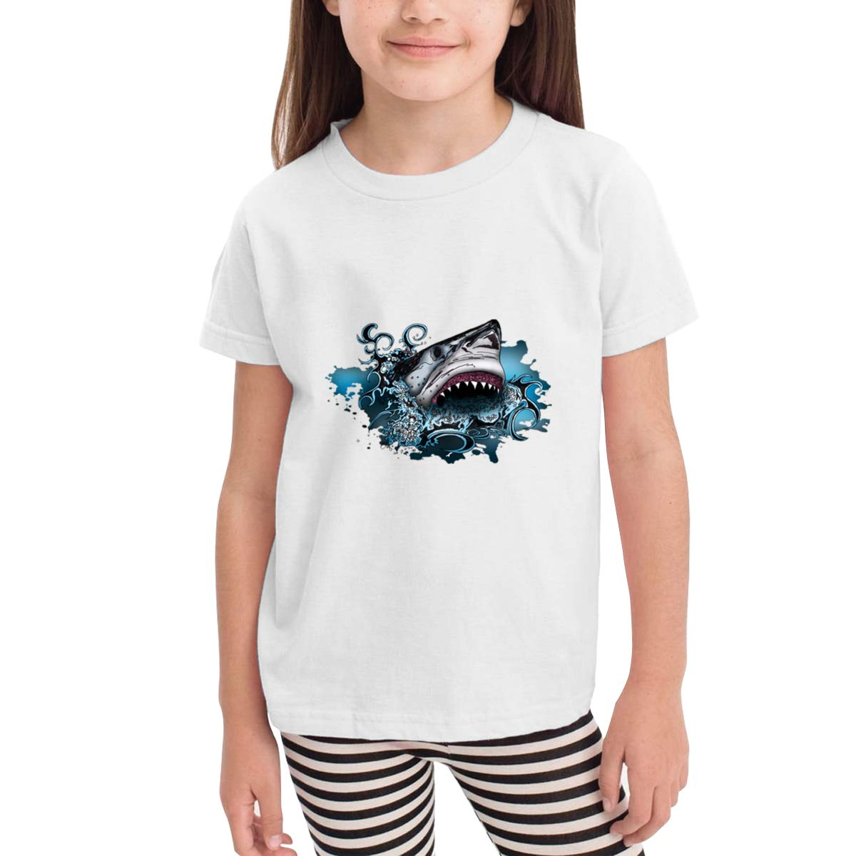 Shark Attack 100/% Cotton Toddler Baby Boys Girls Kids Short Sleeve T Shirt Top Tee Clothes 2-6 T