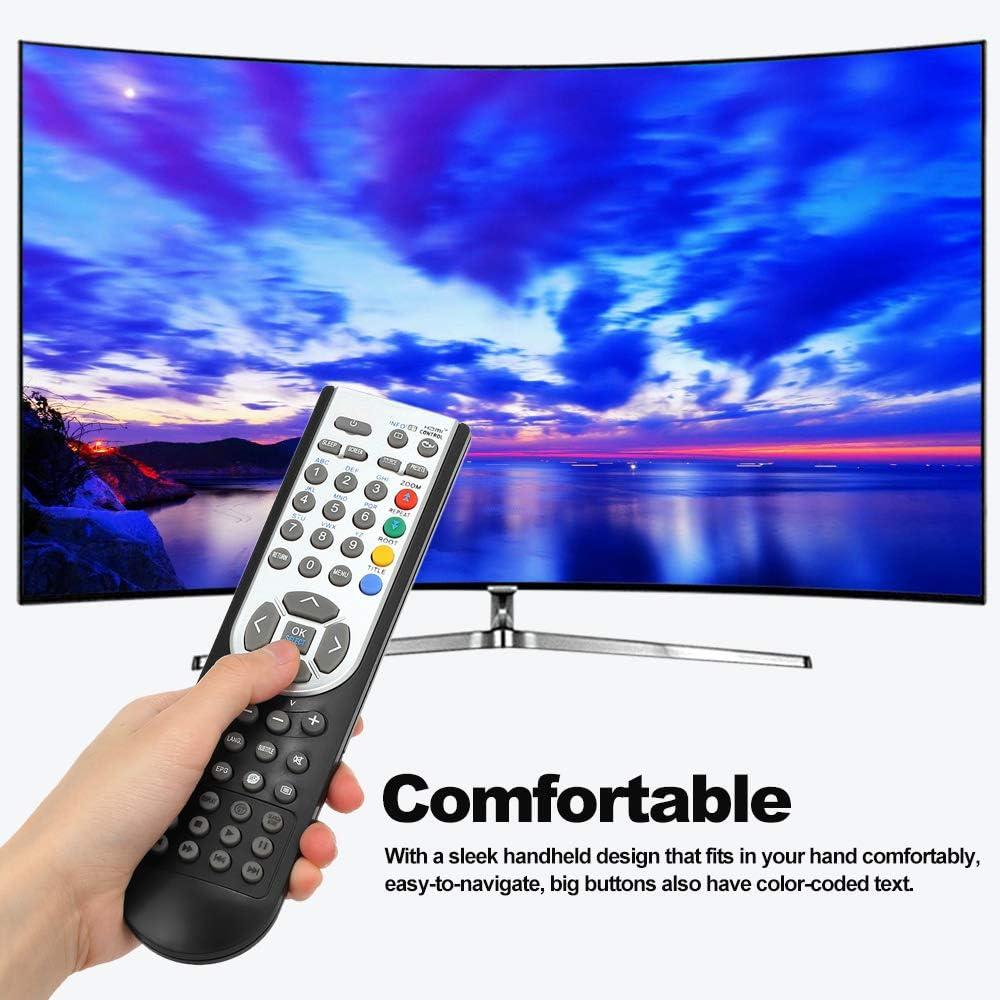 Docooler RC1900 Mando a Distancia para Oki HITACHI Alba CELCUS Luxor GRUNDIG Sharp JMB TELEFUNKEN Bush TECHWOOD Akai NEVIR SANYO LCD LED Plasma Smart TV Negro: Amazon.es: Electrónica