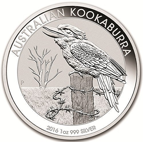 - 2016 AU Australian 1 oz Silver Kookaburra 999 $1 Brilliant Uncirculated New