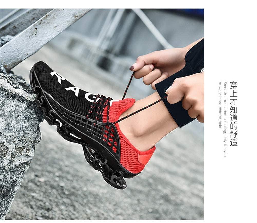 TMSE Rutschfeste atmungsaktive Joggingschuhe Joggingschuhe atmungsaktive Paar Laufschuhe, Rot, EU45 - 784232