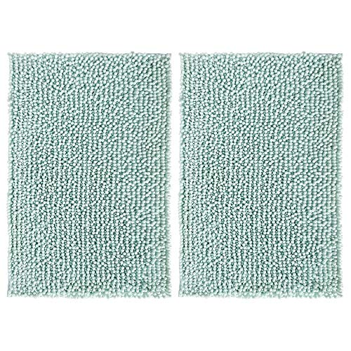 - mDesign Soft Microfiber Polyester Non-Slip Rectangular Spa Mat, Plush Water Absorbent Accent Rug for Bathroom Vanity, Bathtub/Shower, Machine Washable - 30