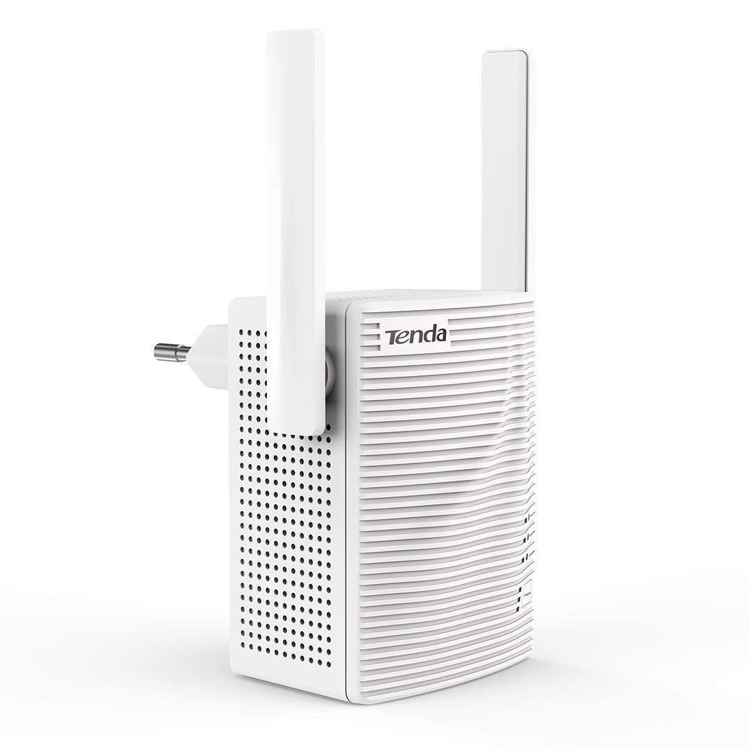 Tenda A9 N300 Universal WLAN Repeater mit zwei Antennen für maximale Abdeckung (300 MBit/s, WPA, WPA2, kompatibel mit allen gängigen WLAN Routern) weiß 427295