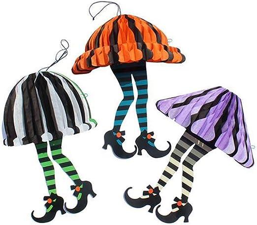 XHJZ-W Falda de Adorno Colgante de Halloween y Tacones Altos ...