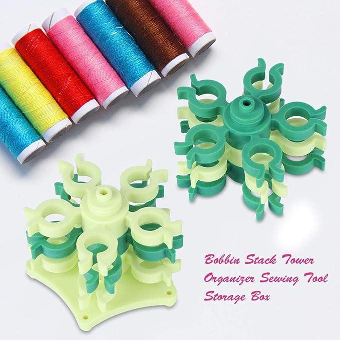 LnLyin 25PCS Sewing Machine Spools Thread Empty Bobbins With Box for Storage Case