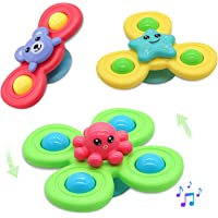 Suction Spinner Toys Sensory Toys Spinning Rattle Bath Toys for Toddlers Babies Infant 6 12 12-18 Months Age 1-3 1 2 3…