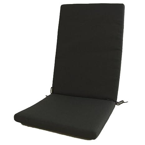Edenjardi Cojín para sillón de jardín reclinable estándar Olefin Color Gris, Tamaño 114x48x5 cm, No Pierde Color, Desenfundable