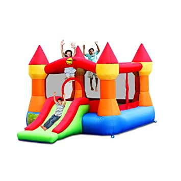 Castillo Hinchable con tobogán - 9017N - HAPPY HOP: Amazon ...