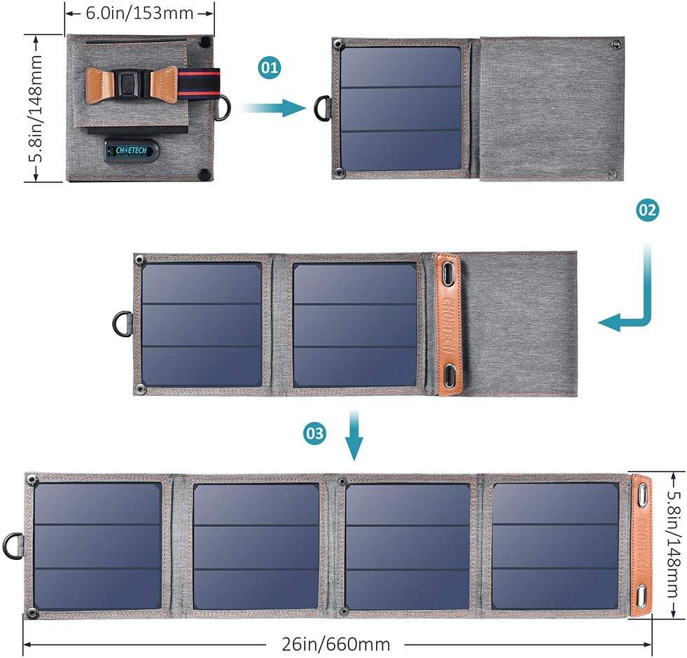 ofertas cargador Solar Plegable Choetech