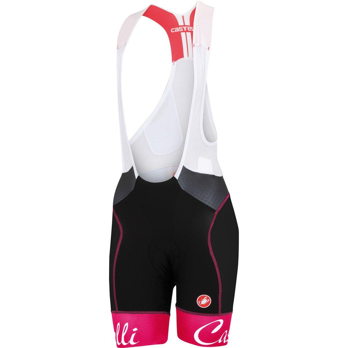 Castelli Free Aero Bib Shorts – Women 's B00U8CERR2 X-Small Black/Raspberry Black/Raspberry X-Small