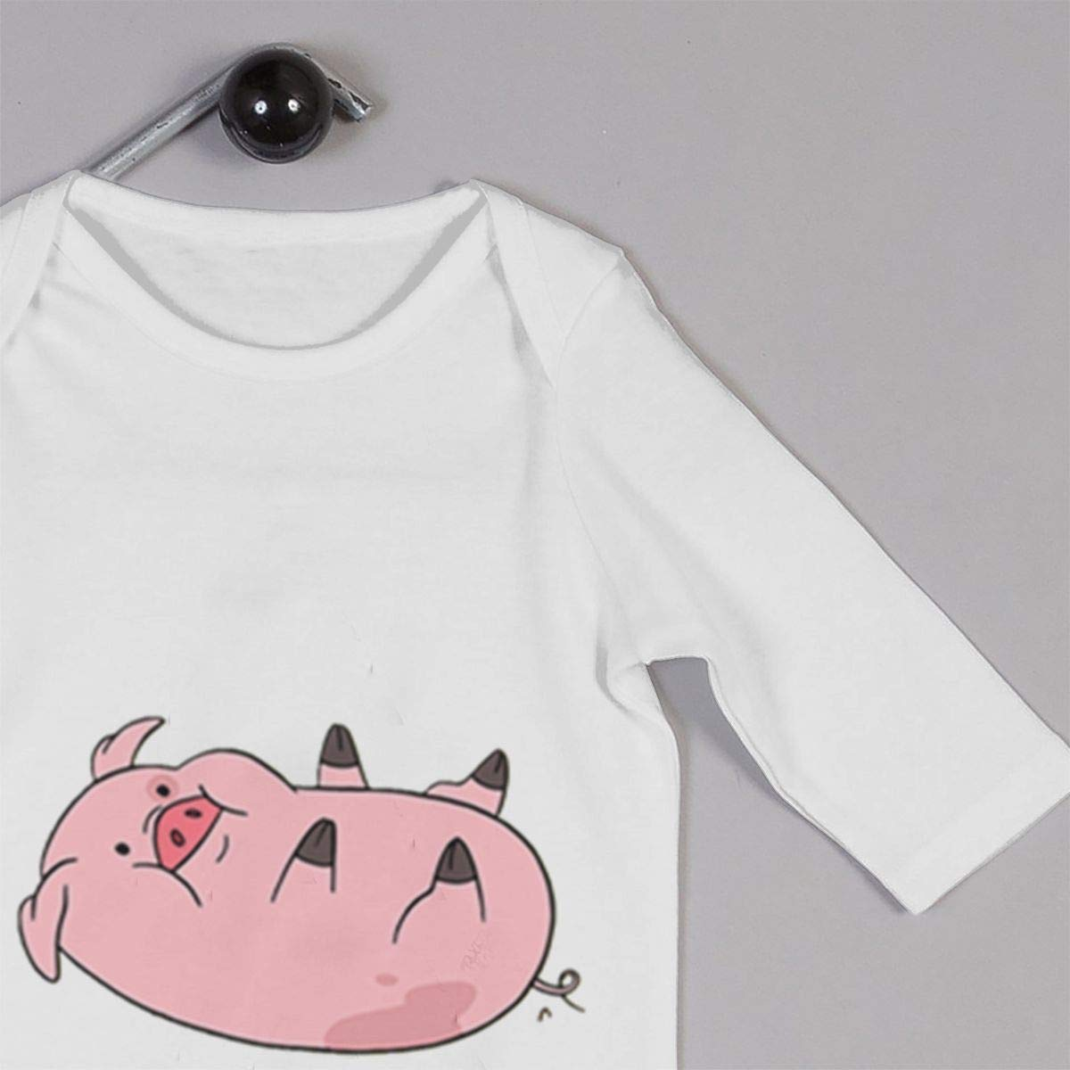 Gravity-Falls Pig Unisex Long Sleeve Baby Gown Baby Bodysuit Unionsuit Footed Pajamas Romper Jumpsuit