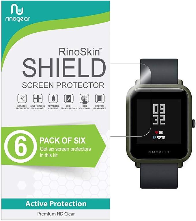 Amazon.com: [6-Pack] RinoGear para Xiaomi huami amazfit bip ...